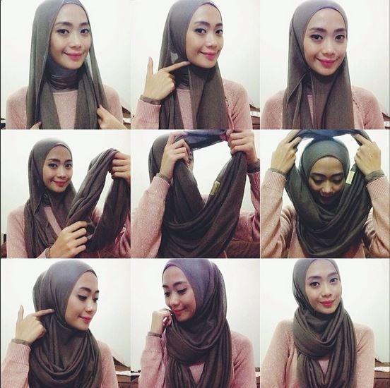 how to wear infinity scarf as hijab - Google Search   Hijab .