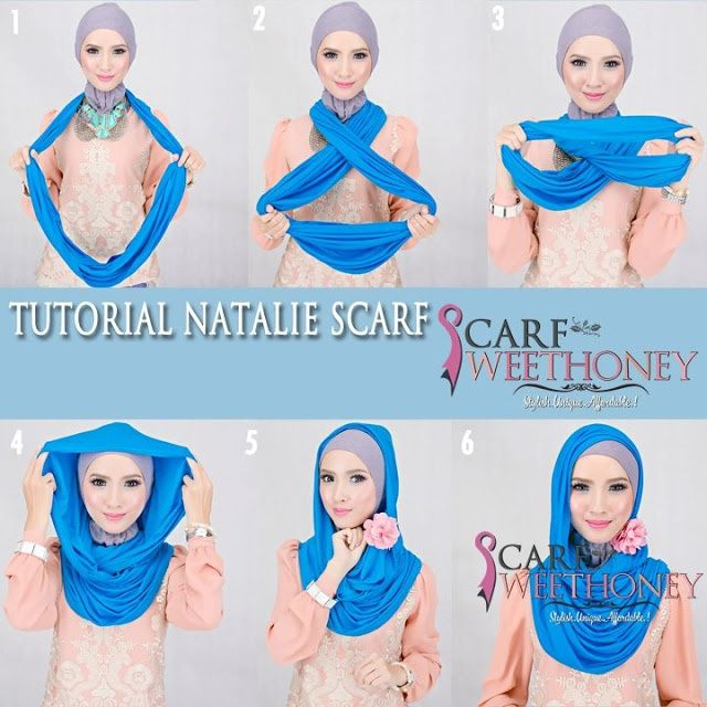 How to turn an infinity scarf into a hijab - easy and quick.   How .