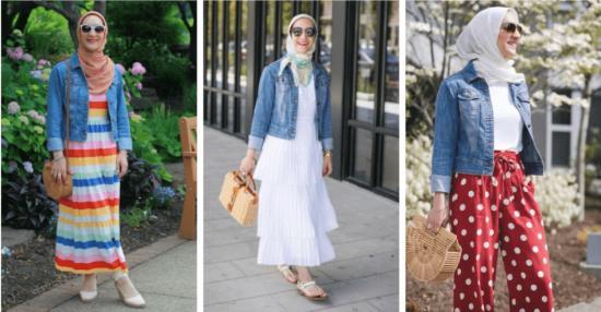11 Ways to Wear Hijab with Denim Jackets   masho.c