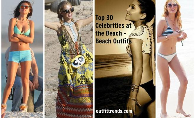 Hollywood Celebrities Beach Outfits-30 Top Celebs in Beachwear .