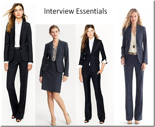 Interview Clothes What should women wear to an interview? Click on .