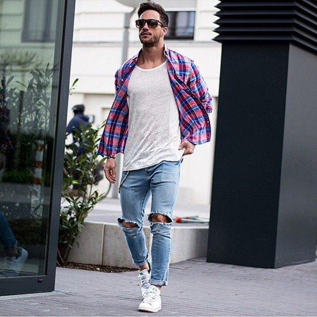 How to Style Adidas Superstar Men-18 Outfits with Adidas Sneake