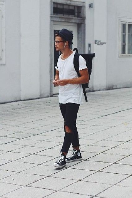 28 Best Ideas on How to Wear Converse Shoes for Guys | Mens street .