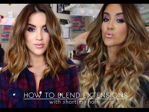 How To | Wear Extensions With Short(er) Hair - YouTu