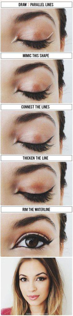 How To: Apply Liquid Eyeliner for Beginners..Liquid Eyeliner Tips .