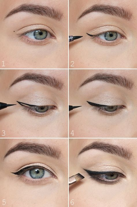 Easy way to create a winged liner using Liquid Liner. in 2020 .