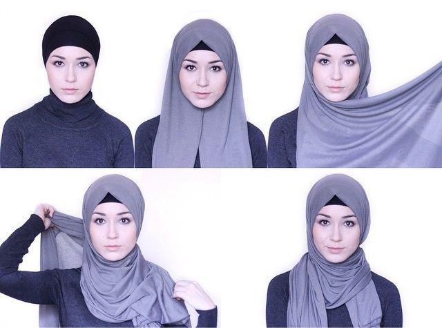 How To Wear Jersey Hijab - Hijab Tutorial - Hijab Fashion .