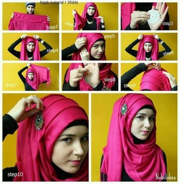 beautiful-pink-color-hijab-for-girls.jpg 610 × 623 pixels | Simple .