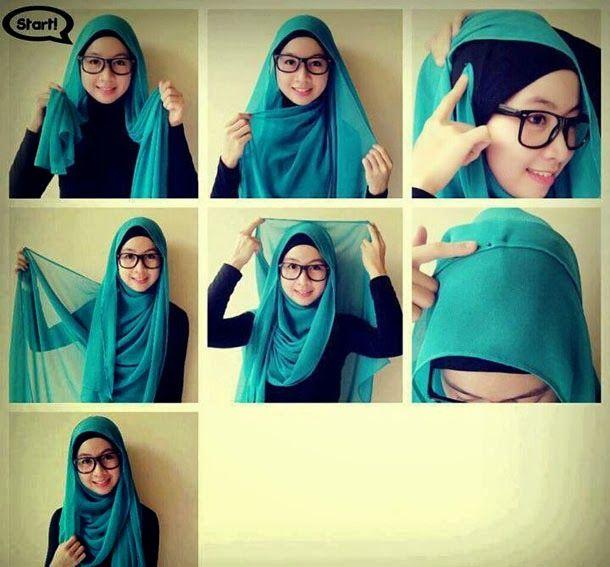 how-to-wear-hijab-fashionably-4.jpg 610×567 pixels | Simple hijab .