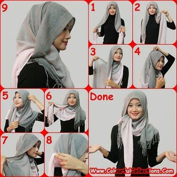 How to Wear a Hijab in Style [12 Tricks] | Hijab style tutorial .