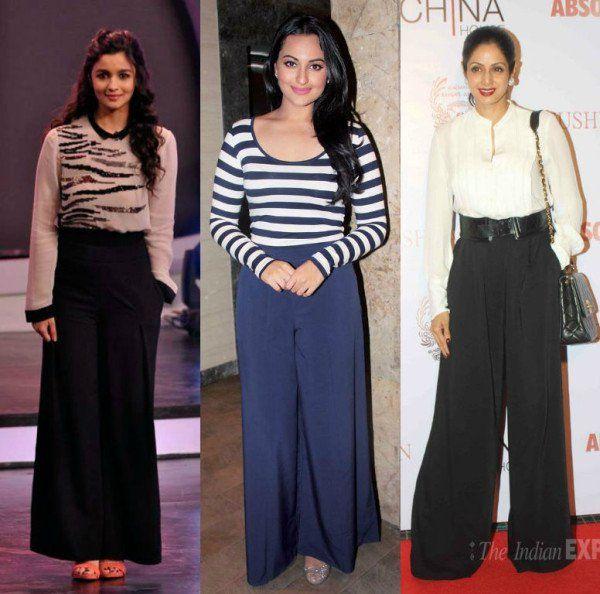 Indian Celebrities in Palazzo Pants-19 Ways to Wear Palazzo Like Th