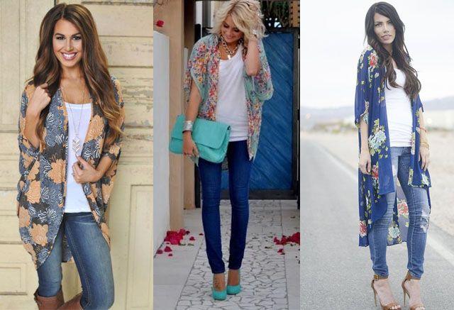 Kimono Sleeve Dress Ideas - thelatestfashiontrends.com   Kimono .