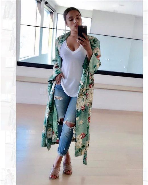 How to wear jeans with kimonos in spring 20 outfit ideas   Fashion .