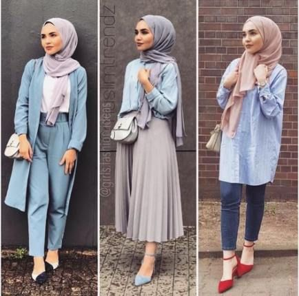 36+ new Ideas for fashion outfits summer modest | Muslim fashion .