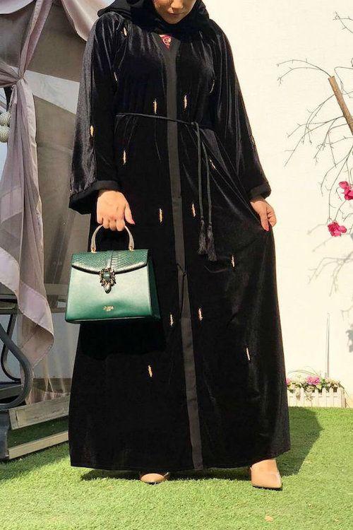 The Velvet Abaya Is the Latest Hijabi Trend for Winter 2019 .