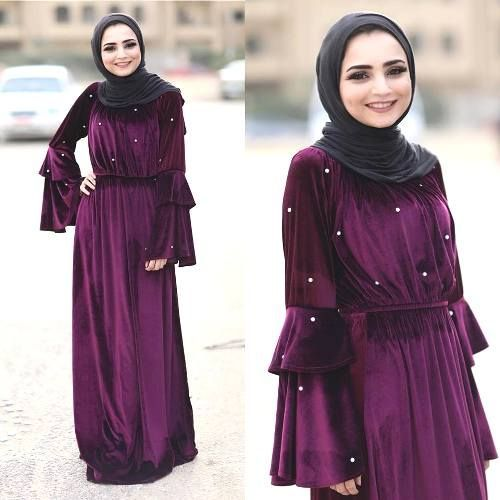 10 Latest Velvet Abaya Styles And Tips On How To Wear Them in 2020 .