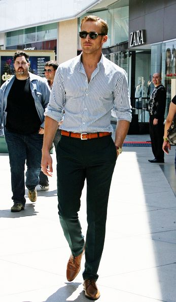How to Wear Brown Shoes-16 Men Outfits with Brown Dress Sho