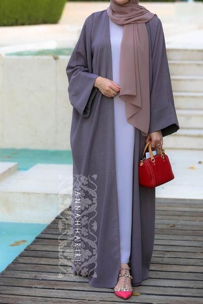 Abaya set with slip dress | Abayas fashion, Hijab fashion, Hijabi .