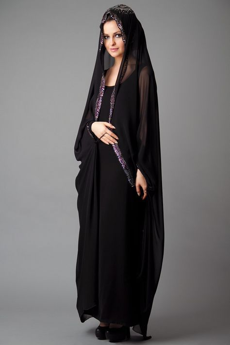 15 Most Popular Dubai Style embroidered Abayas | Fashion, Abaya .