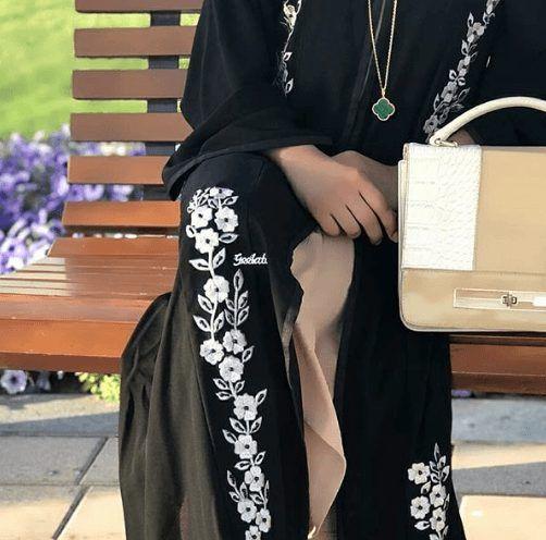 15 Most Popular Dubai Style embroidered Abayas | Abayas fashion .