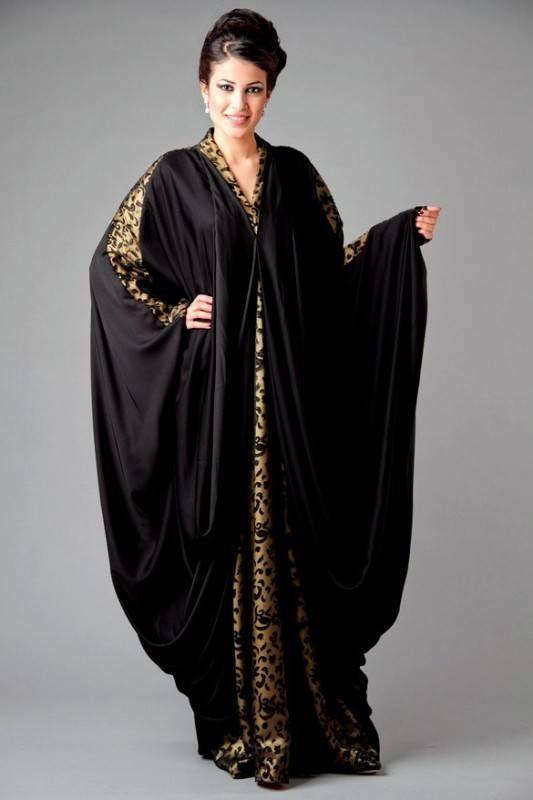 15 Most Popular Dubai Style embroidered Abayas | Abaya dress .
