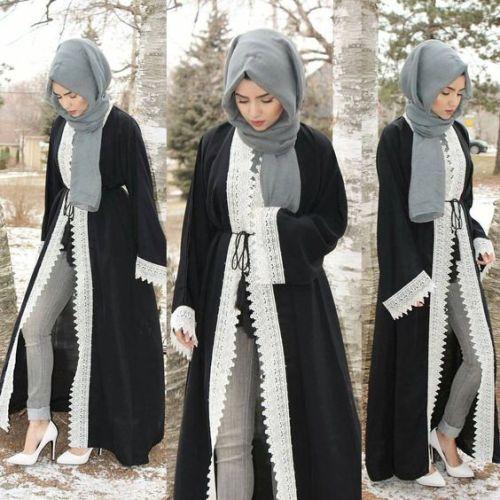 Latest Abaya designs for 2018   Hijab fashion, Abayas fashion .
