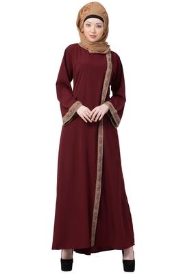 Front Open Abaya- Side Slit Design - MR Creation - 30120
