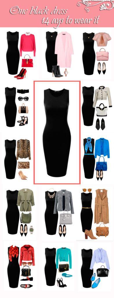 One black Dress in a Capsule Wardrobe: Fourteen Ways to Wear It .
