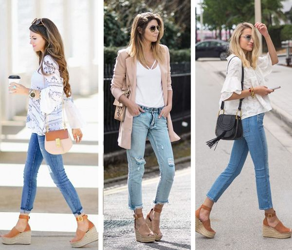 Chloe Espadrille Wedges Outfits | Wedges outfit, Espadrille wedges .