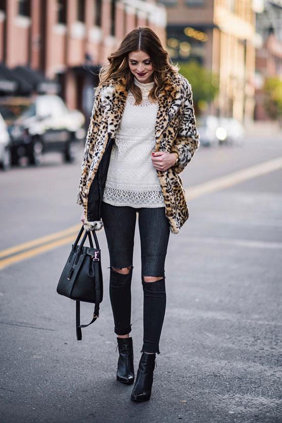 10 Cool Ways To Wear A Leopard Coat This Winter | Be Daze Li
