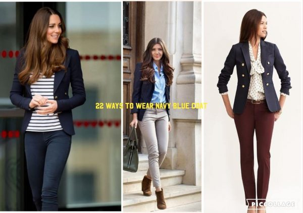 Outfit with Navy Blue Coat - 22 Ways to Wear Navy Blue Co
