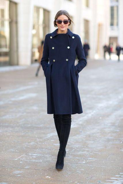 Navy Blue Coat Ideas – thelatestfashiontrends.c