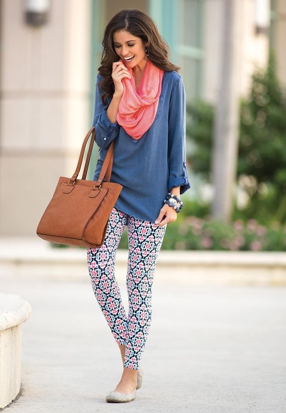 Outfits with Printed Tights - Ideas how to wear Patterned Leggings .