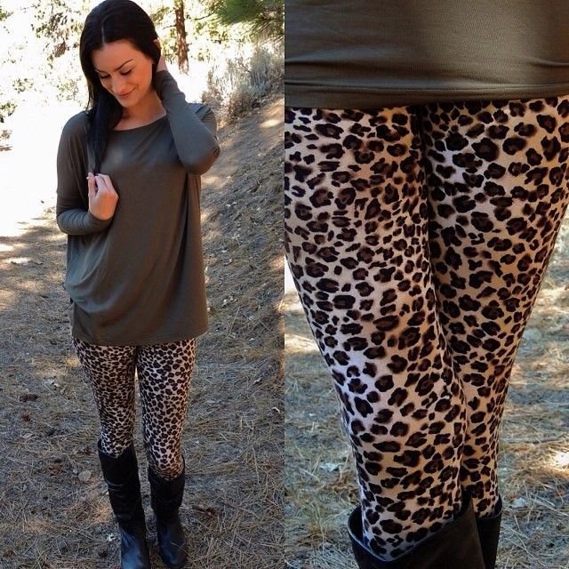 How to Style Leopard print leggings | Leopard print leggings .