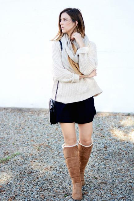 How to Wear Shearling Boots- 35 Outfits with Shearling Boo