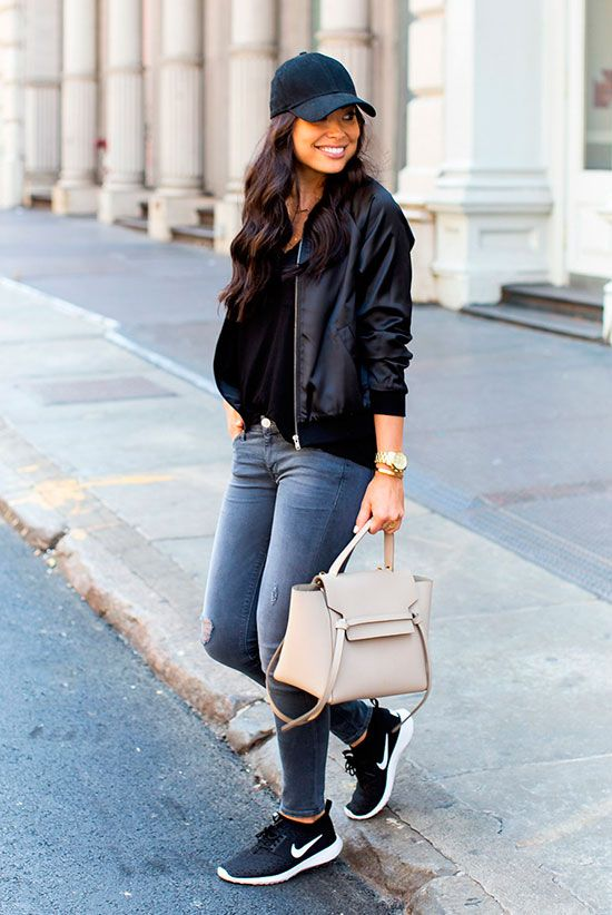 5 Ultra Comfy Sneakers Outfits Perfect For Fall | Be Daze Live .