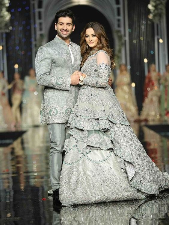 Couple matching Outfit in 2020 | Bridal couture week, Bridal .