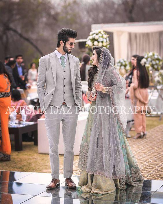Pin by paro malik on Bridal lehenga | Couple wedding dress .