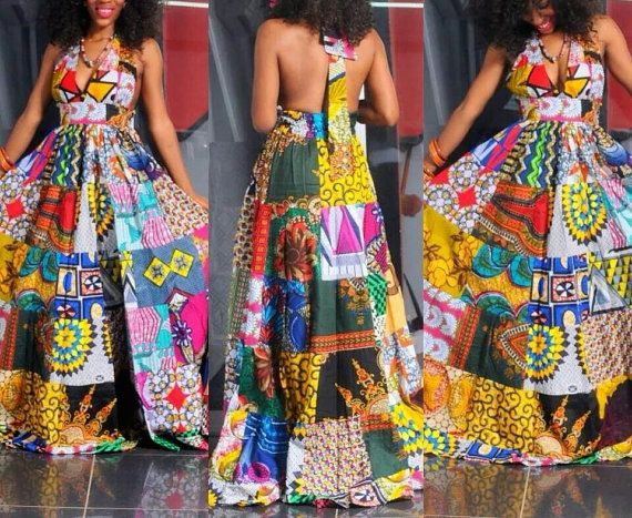 Beautifully Unique African Patchwork Dress | African fashion .