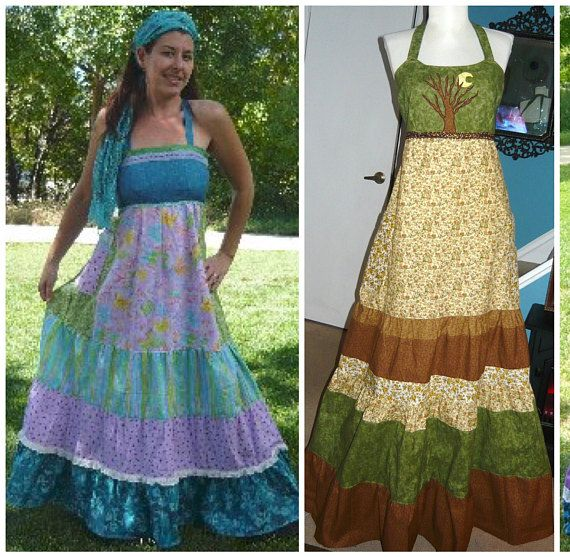 Patchwork Hippie Spinner Dress, Custom made | Patchwork dress .