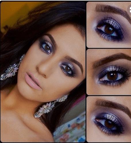 Voilet-eye-makeover Eid Makeup Tutorial-15 Perfect Makeup Ideas .