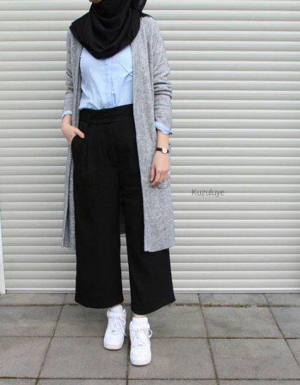 Fashion Casual Hijabi Simple 33 Ideas   Hijabi outfits casual .