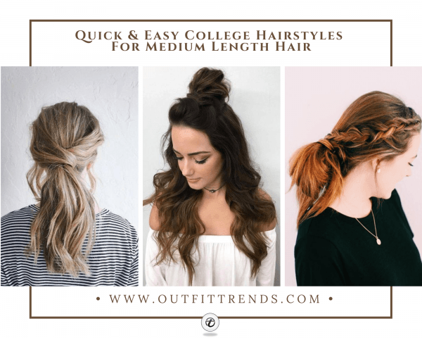 25 Best College Hairstyles for Girls with Medium Length Ha