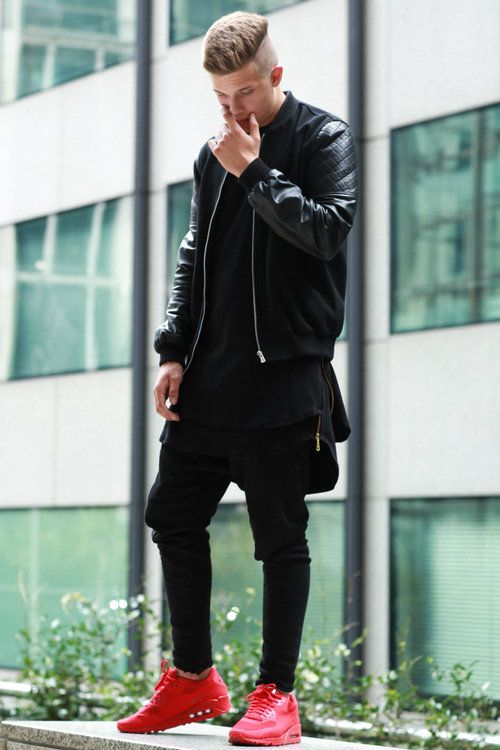 Pin by k_liche📶 on Men outfit | Red shoes outfit, Mens street .