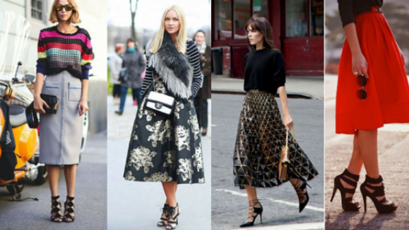 What shoe to wear to your midi skirt - Posh & Spi