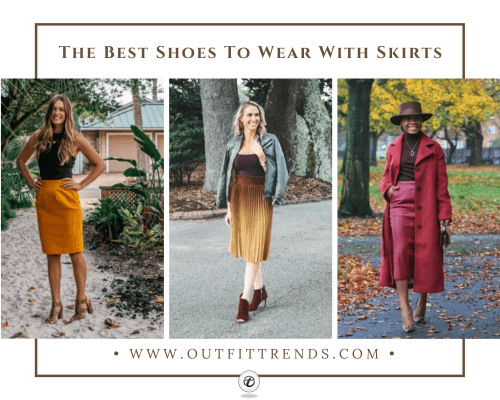 Shoes with Skirts - 18 Best Footwear which goes with Skir