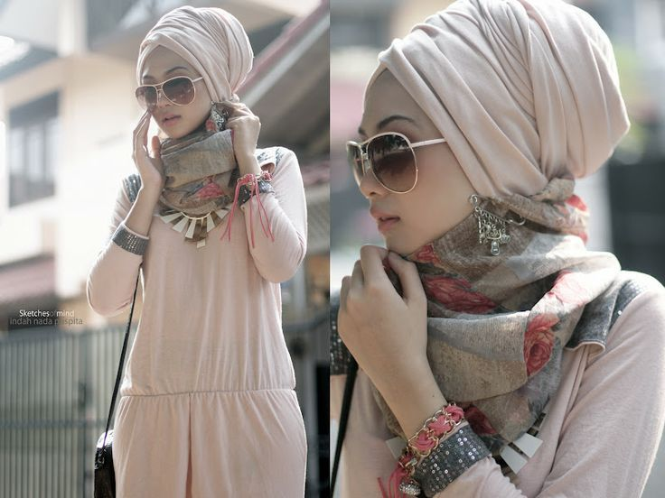 How to Wear a Silk Hijab in Style - Nona Gaya   Hijab fashion .