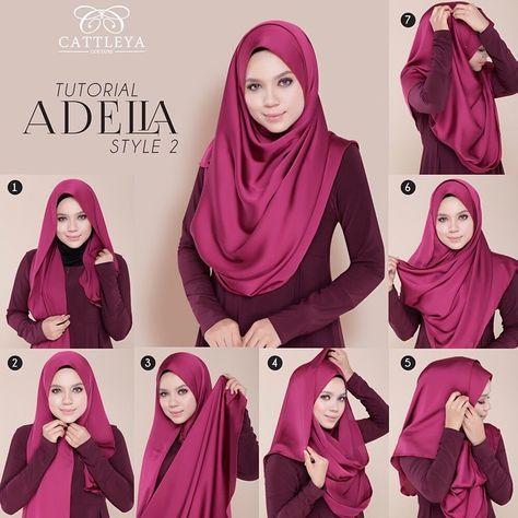 How To Wear Silk Hijab - Tutorial - Hijab Fashion Inspiration .