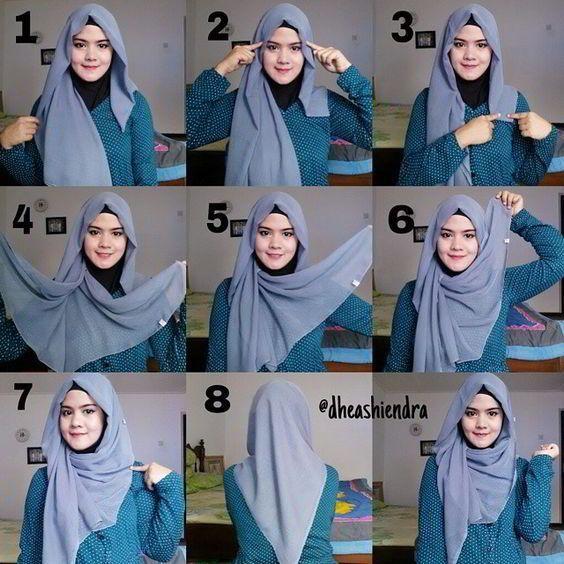 37 Model Hijab Paris Segi Empat Plus Tutorial Terbaru - Model Baju .