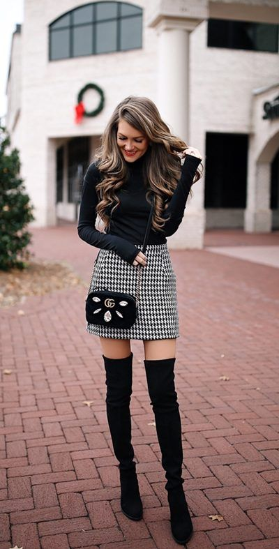 ways-wear-knee-high-boots-outfit-winter | Outfit, Kniehohe stiefel .